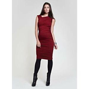Isabella Oliver Maternity Dress NWOT Red Sz 2 US 6